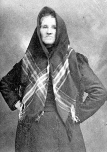 Old Photograph Plough Woman Highland Perthshire Scotland